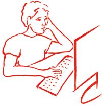 Jongen aan computer