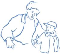 Vader met peuterjongetje petje