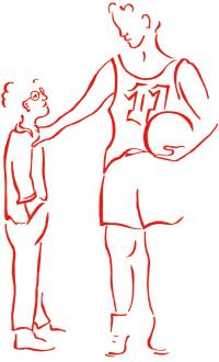 Grote en kleine jongen (bril)